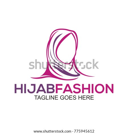 Muslim Fashion Logo Template Icon Stock Vector 775945612 - Shutterstock