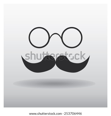 mustache - vector icon. Flat design style - stock vector