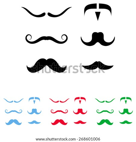 Mustaches icons set