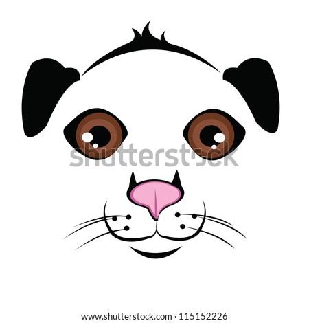Muzzle Dog - stock vector