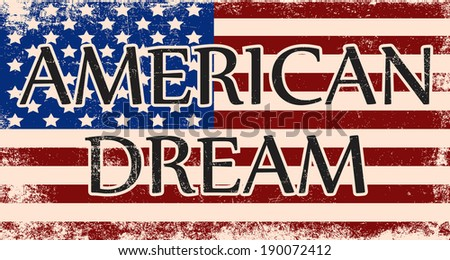 my american dream, illustration in vector format