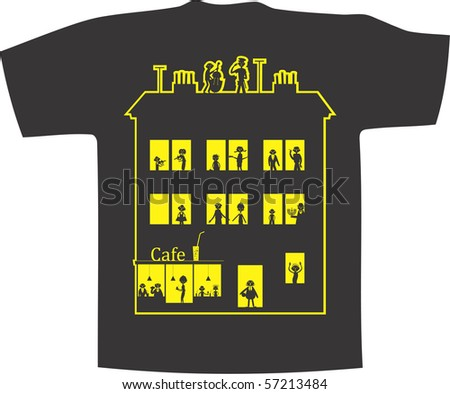 My home. Vector T-shirt design