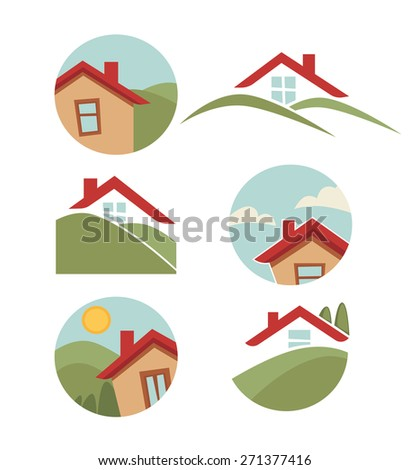 my little home, vector collection of property symbols
