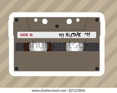 my mixtape mc tape - illustration - stock vector