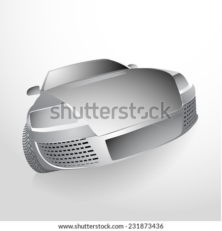 My own vector car design. Eps 10 illustration. - stock vector