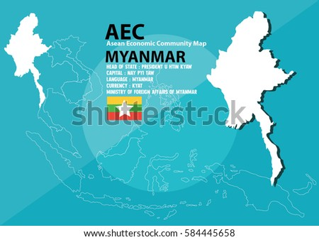 Myanmar world map myanmar southeast asia stock vector 584445658 myanmar world map myanmar are in southeast asia and in aec group gumiabroncs Gallery