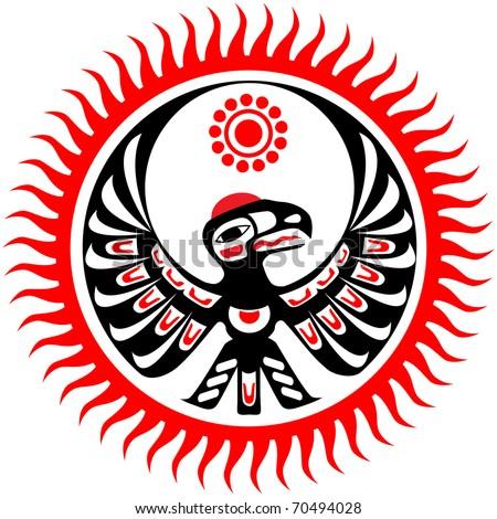 Hopi Sun Symbol Tattoo And sun - stock vectorHopi Sun Symbol