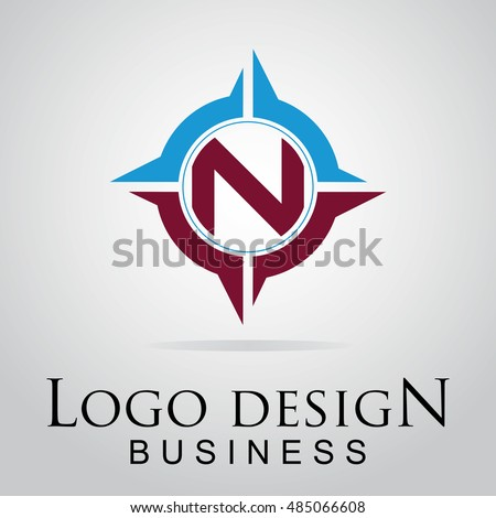N Letter Logo In The Cool Circle Vector Design Template For Your Business