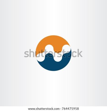 N Logo Blue Orange Icon Element Stock Vector Hd Royalty Free