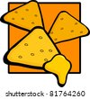 nachos with cheese - stock vector