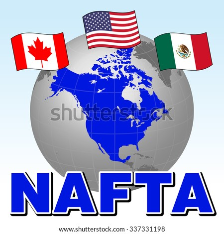 Nafta North American Free Trade Agreement Stock Vector 337331198