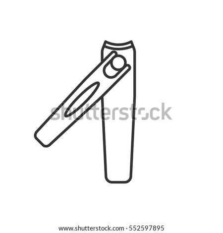 Nail Clippers Linear Icon Thin Line Stock Vector 552597895