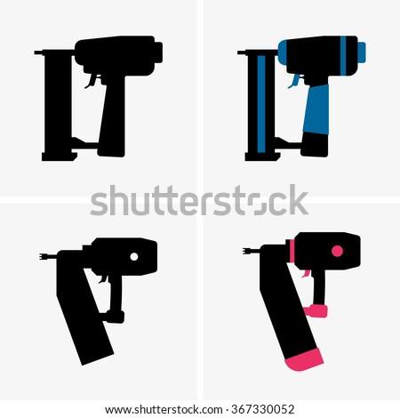 Nail Gun - stock vector