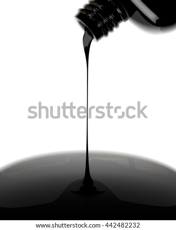 Nail polish leaking out from bottle vector illustration
