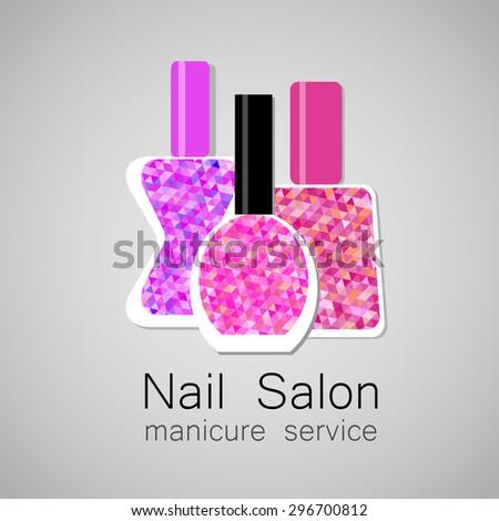 nail salon logo nail polish a symbol of manicure design sign nail - Nail Salon Logo Design Ideas