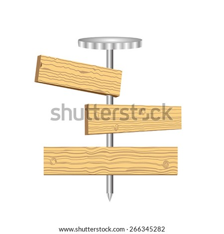 Nail the boards - stock vector