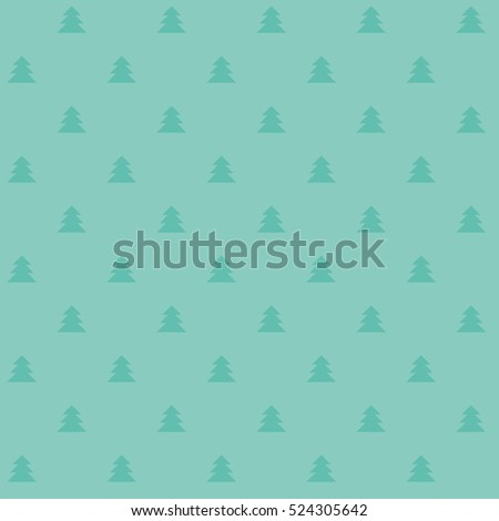 Naive Christmas vector seamless pattern with trees. Xmas simple texture. Christmas pattern. Christmas trees. Wrapping paper.