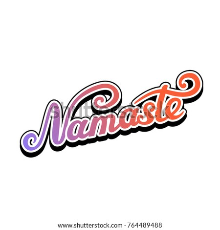 Namaste lettering indian greeting hello hindi stock vector 764489488 namaste lettering indian greeting hello in hindi t shirt hand lettered design m4hsunfo