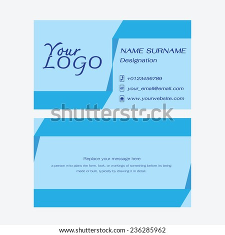 Name card Business abstract background. Vector illustration.