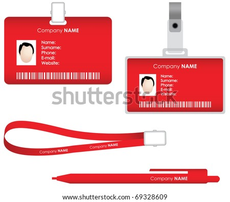 Name tag for id card - stock vector