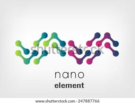 Nano element - stock vector