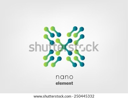 Nano icon,logo design template - stock vector