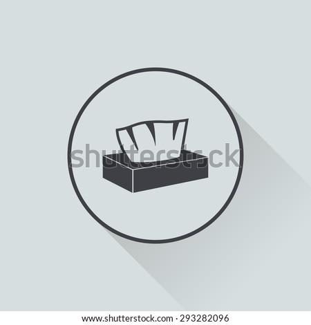 Napkin Icon.  - stock vector