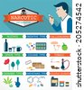 Narcotic infographic - stock