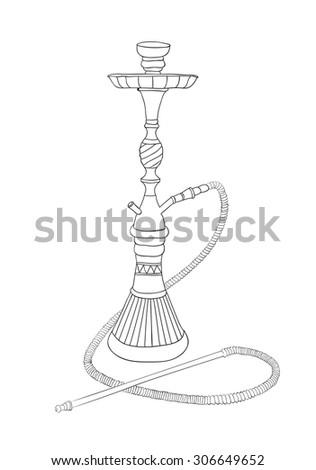 Nargila Sketch - stock vector