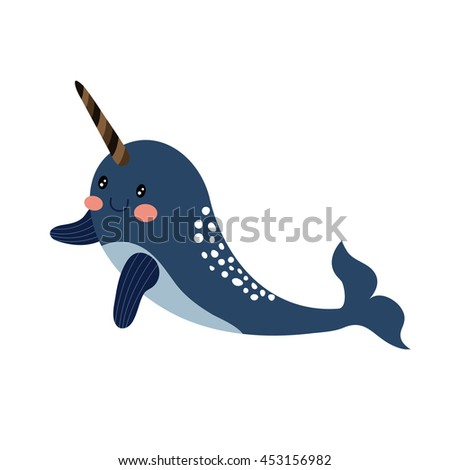 Funny Narwhal Cartoon Narwhal Stock Images, ...