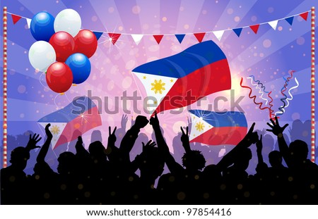 National Celebration Vector Philippines