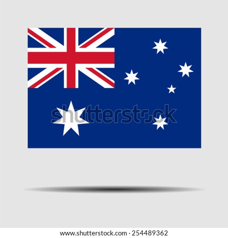 National flag of Australia - stock vector