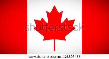 National flag of Canada with correct proportions and color scheme - stock vector