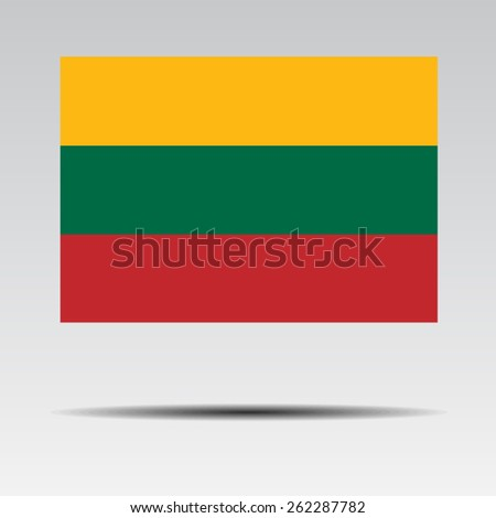 National flag of Lithuania - stock vector