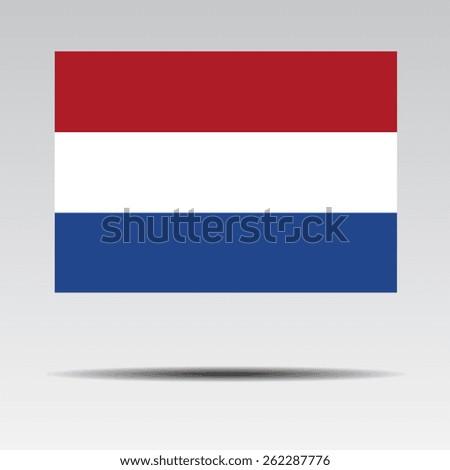 National flag of Netherlands - stock vector