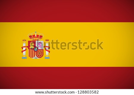 National flag of Spain with correct proportions - stock vector