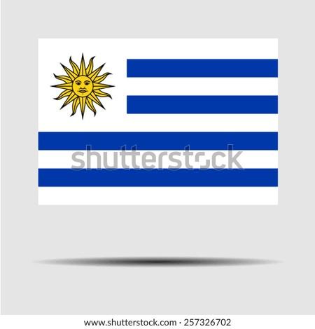National flag of Uruguay - stock vector
