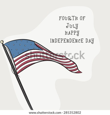 National flag waving on vintage background for 4th of July, American Independence Day celebration. - stock vector