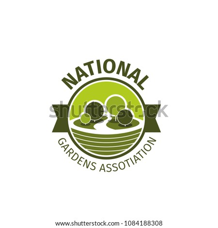 National Gardens Association Vector Isolated On Stock Vector ...