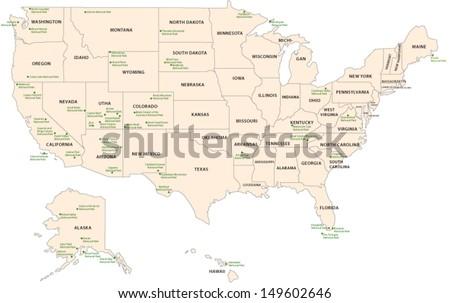 National Park Map Usa