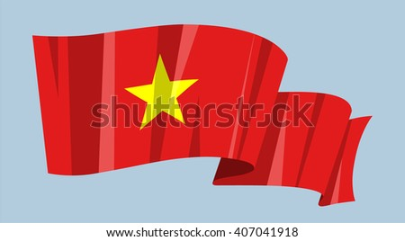 national waving flag vector editable banner stock vector 407041918