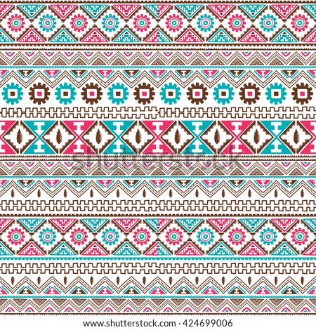native american ethnic seamless pattern theme vector art illustration