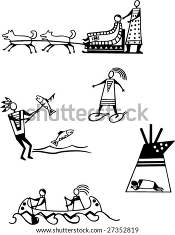 native american pictograms