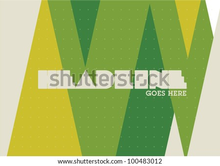 Native Pattern Layout Graphic Design Poster Background - stock vector