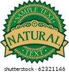 natural badge - label (stamp) - stock photo