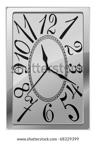 Natural clock icon isolated on white for design. Jpeg version also available in gallery - stock vector