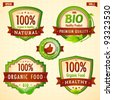 Natural eco bio green label collection vol. 1 - stock vector