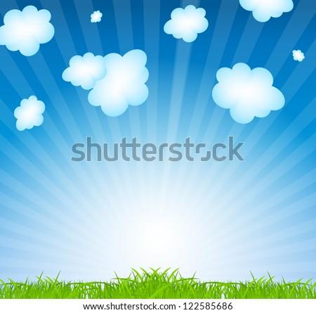 Natural floral background vector illustration - stock vector