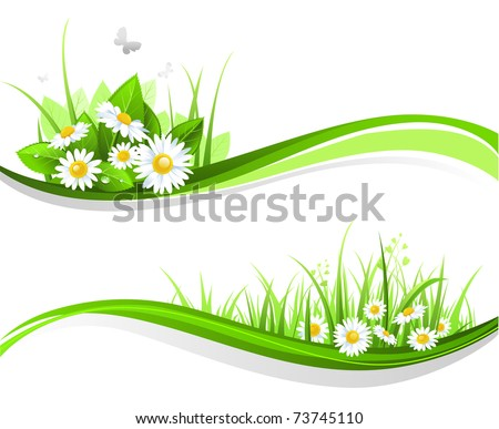 Natural floral design - stock vector