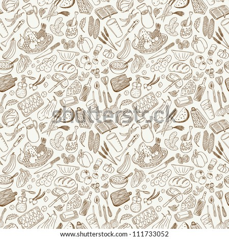 natural food  seamless background - stock vector